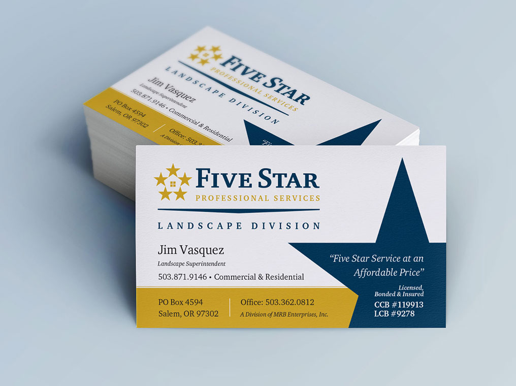 Five Star Business Cards Images - Card Design And Card Template