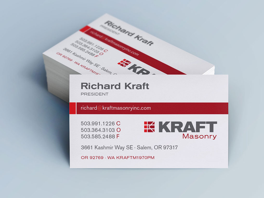 Business cards designpoint inc kraft masonry colourmoves
