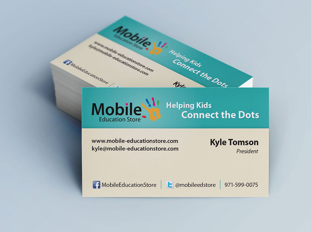 Business cards designpoint inc mobile education store colourmoves