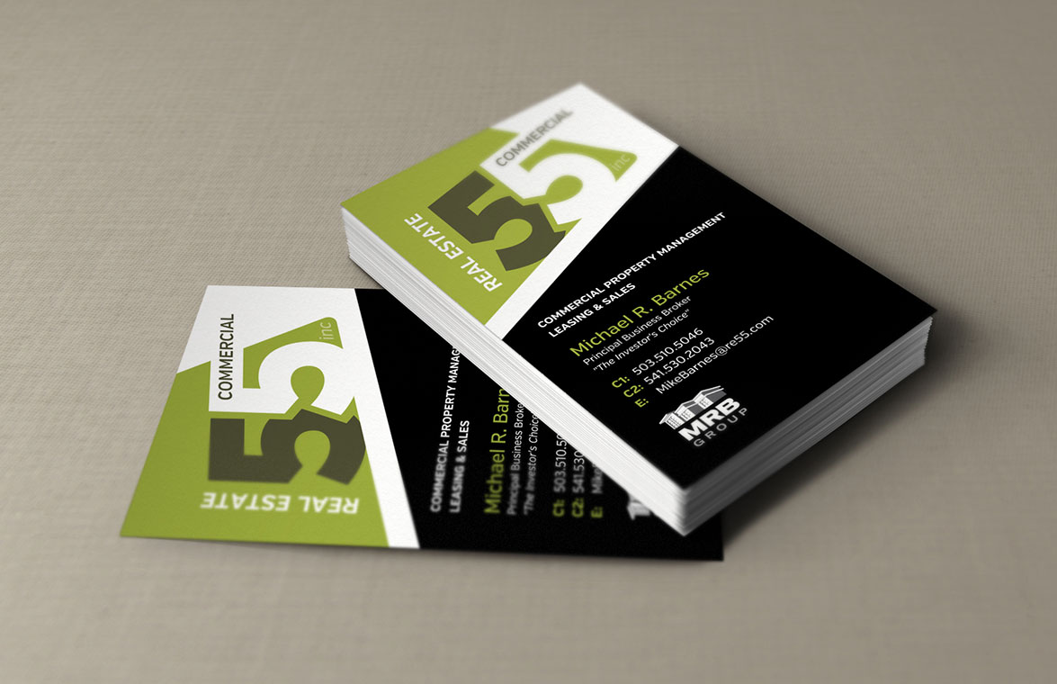 Business cards designpoint inc real estate 55 commercial magicingreecefo Images